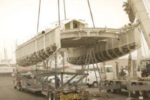 Plastiki loading in Napa, CA