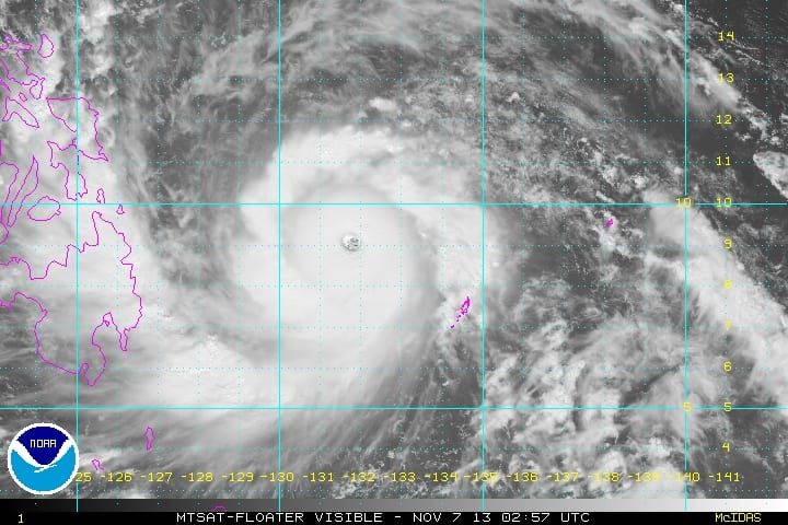 Haiyan Super Typhoon Visble Light