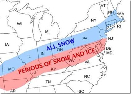 Late Season Winter Storm Map