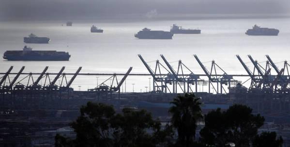 Ships Off Long Beach