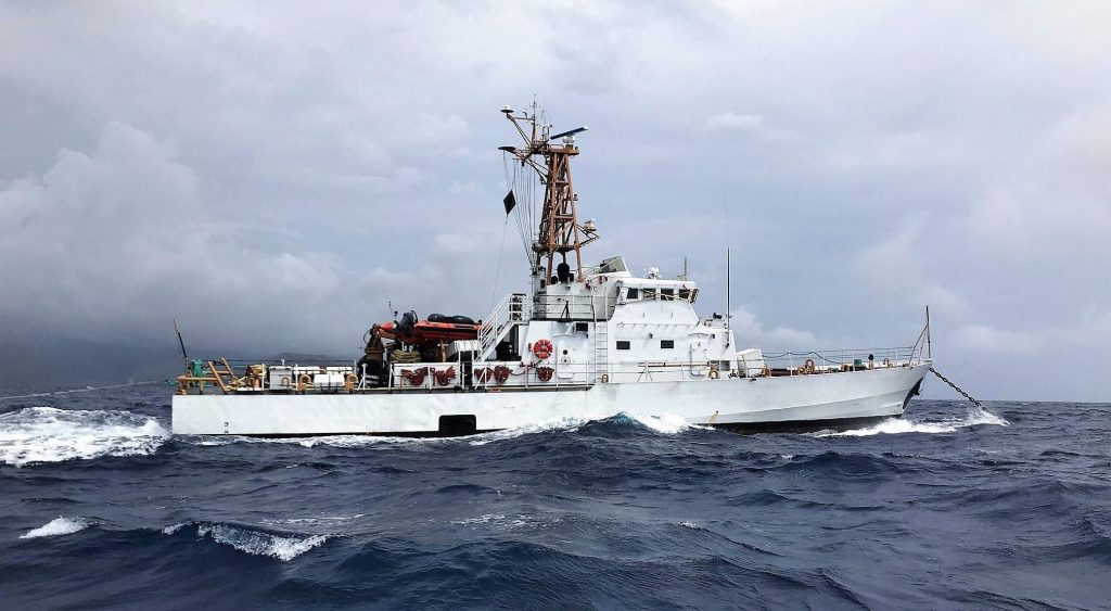 Former USCG Cutter Galveston Island en-route to Costa Rica