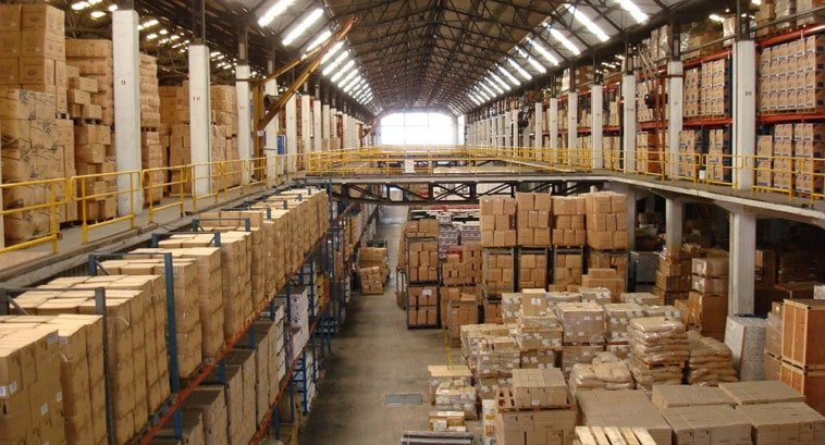 Overflowing warehouse